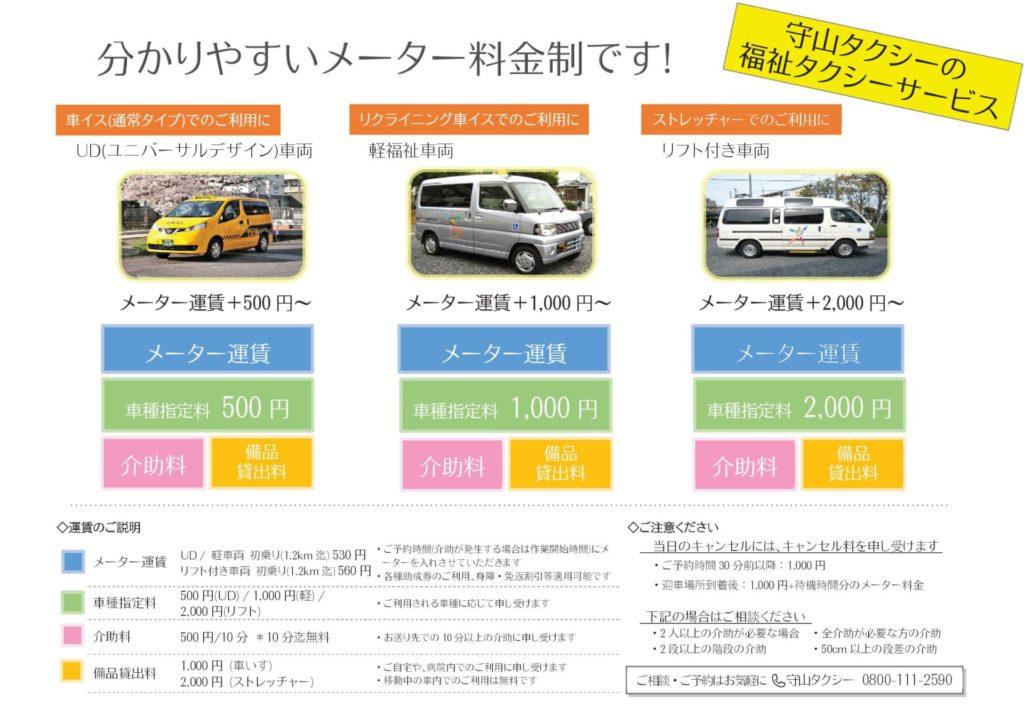 福祉タクシー料金表